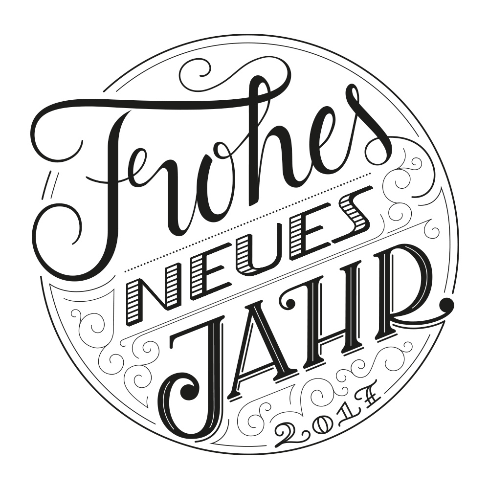 Lettering: Frohes neues Jahr 2017
