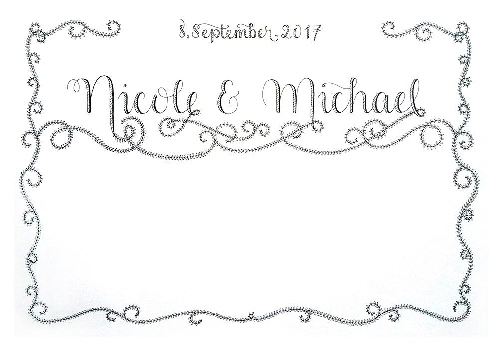 Hochzeitslettering für Nicole und Michael