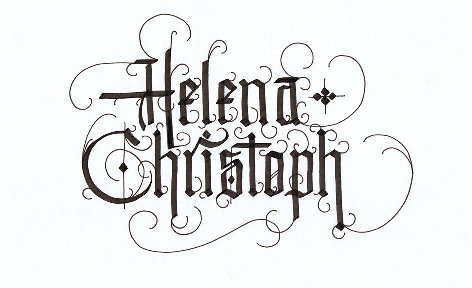 Hochzeitslettering für Helena und Christoph