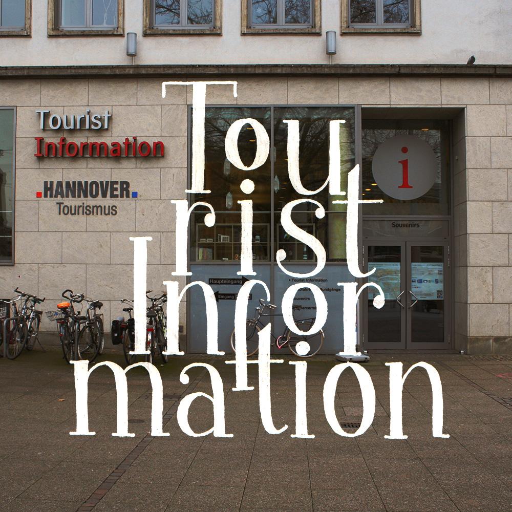 """Lettering und Foto """"Touristinformation"""""""
