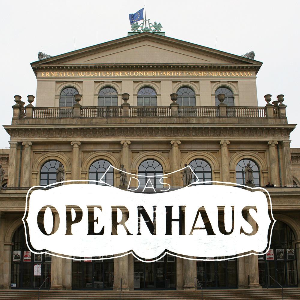 """Lettering und Foto """"Das Opernhaus"""""""