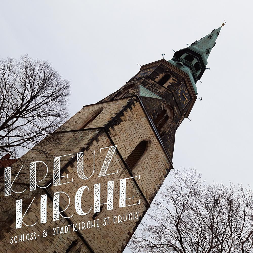 """Lettering und Foto """"Kreuzkirche"""""""
