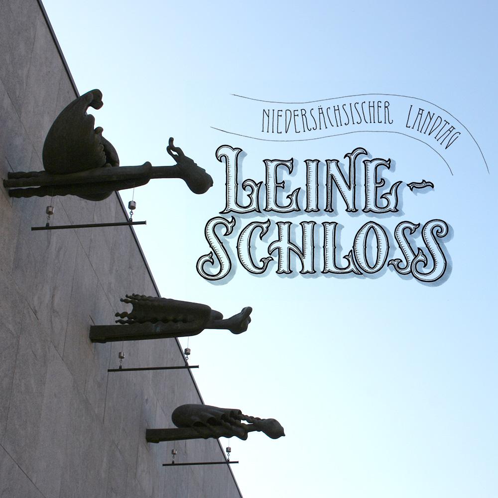 "Lettering und Foto ""Leineschloss"""