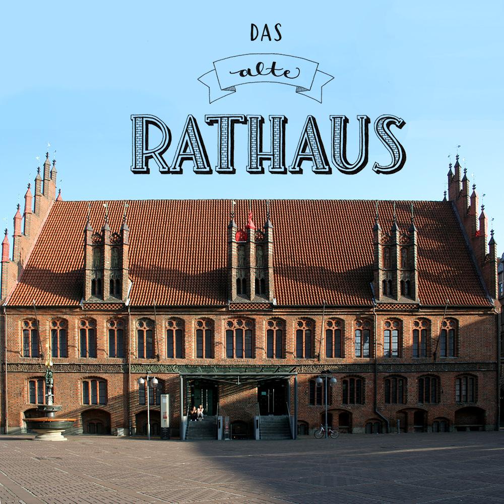"""Lettering und Foto """"das alte Rathaus"""""""