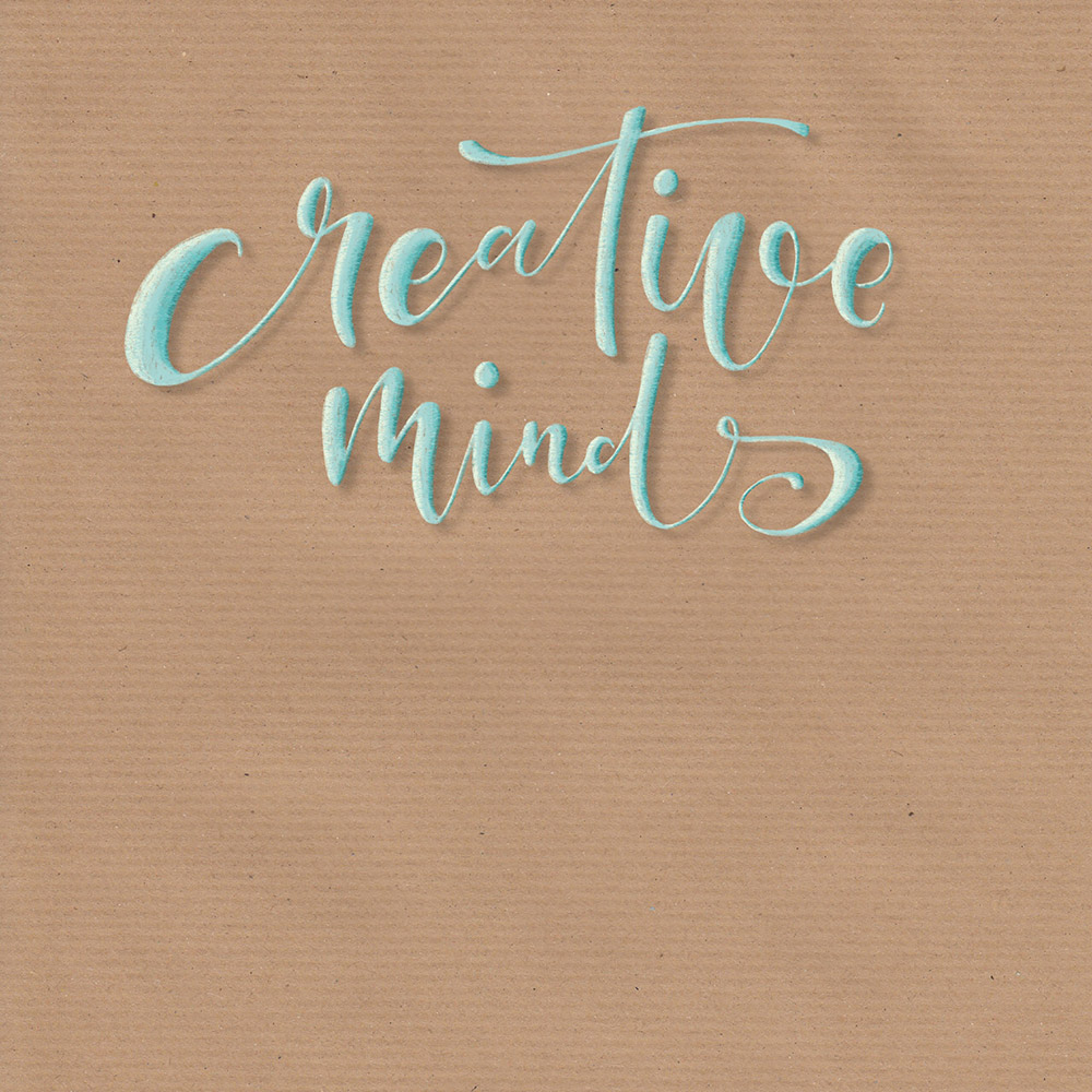 """Lettering """"creative mind inspire others"""" - Teil 1"""