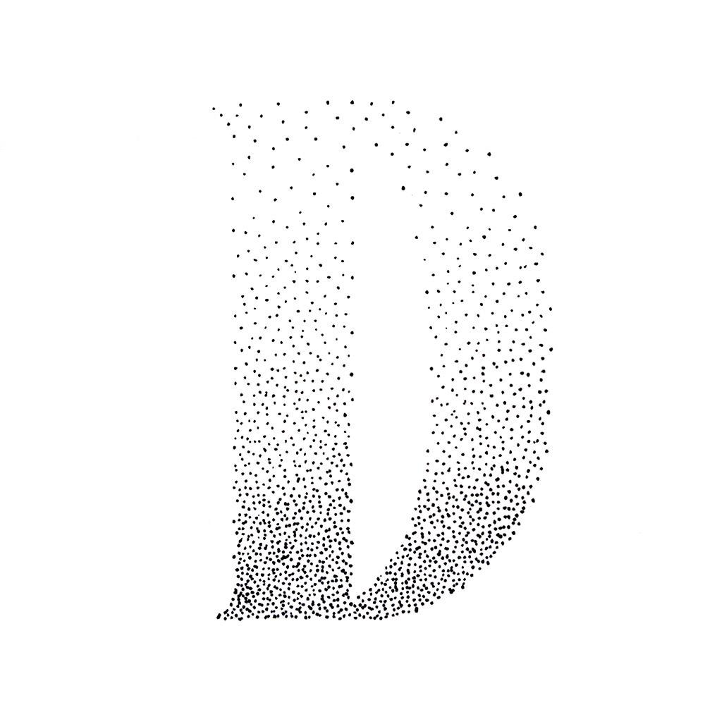 Alphabet #1 - Buchstabe D