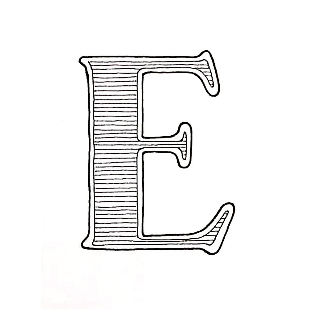 Alphabet #1 - Buchstabe E