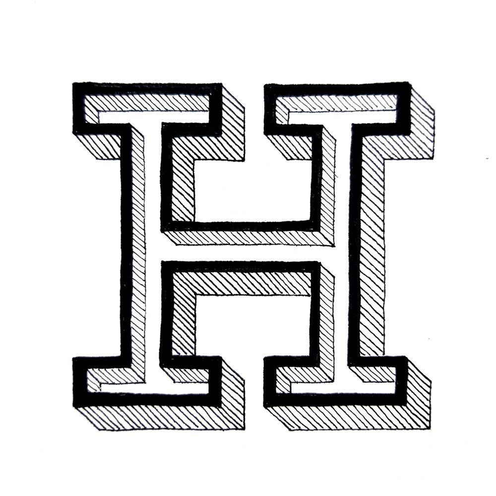 Alphabet #1 - Buchstabe H