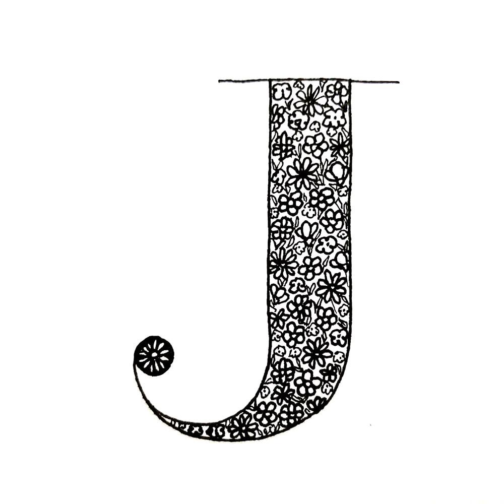 Alphabet #1 - Buchstabe J