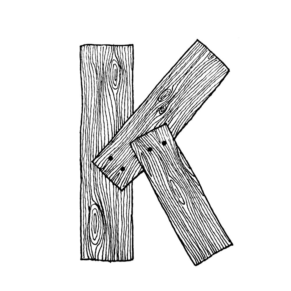 Alphabet #1 - Buchstabe K