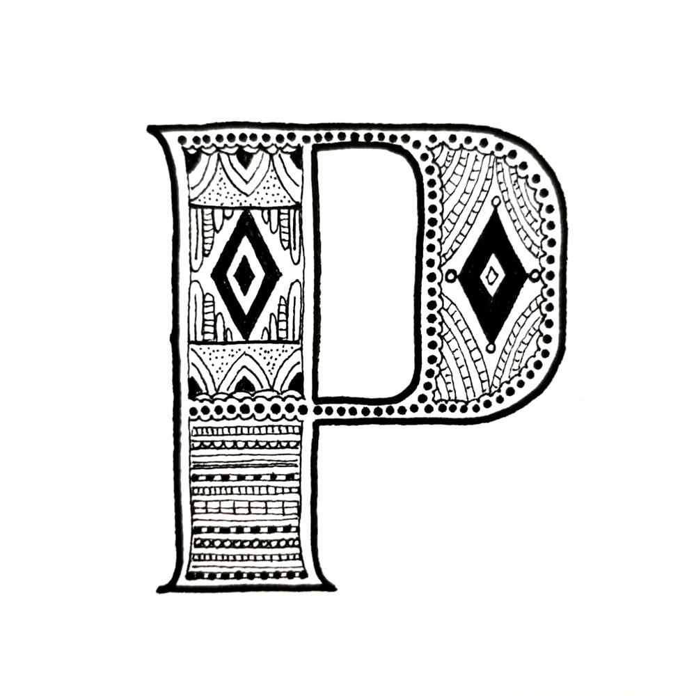 Alphabet #1 - Buchstabe P