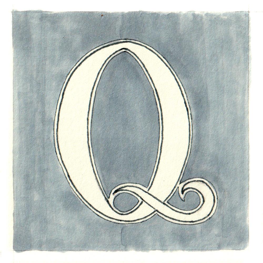 Alphabet #1 - Buchstabe Q