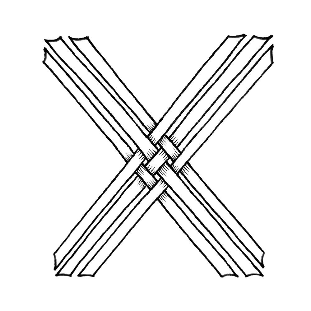 Alphabet #1 - Buchstabe X