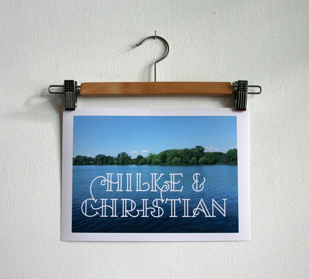 Foto Hochzeitslettering für Hilke und Christian
