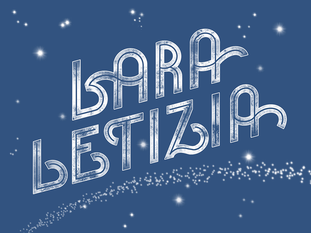 Digitales Namenslettering für Lara Letizia