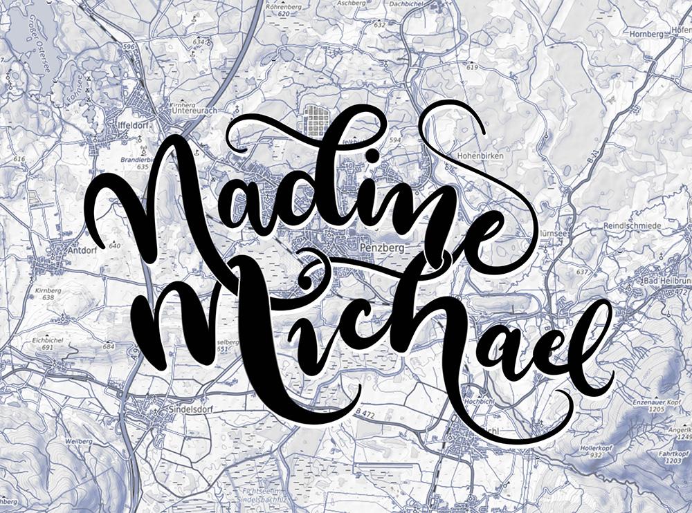 """Handlettering für """"Nadine & Michael"""""""