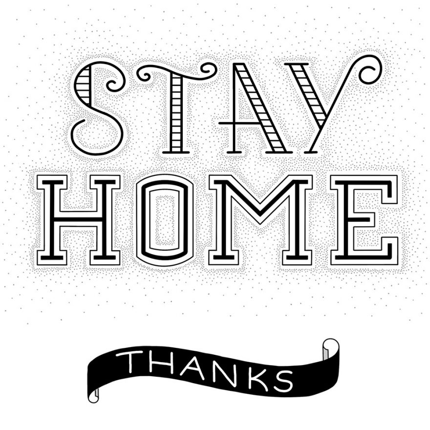 """Lettering """"stay home"""""""