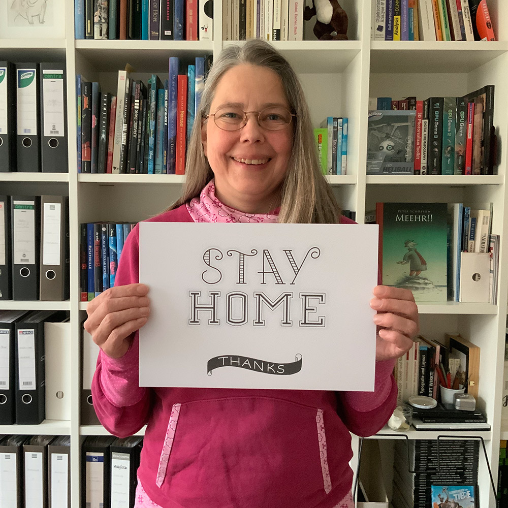 """Foto mit Lettering """"Stay Home"""""""