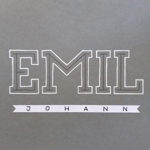 fertiges Lettering für Emil Johann