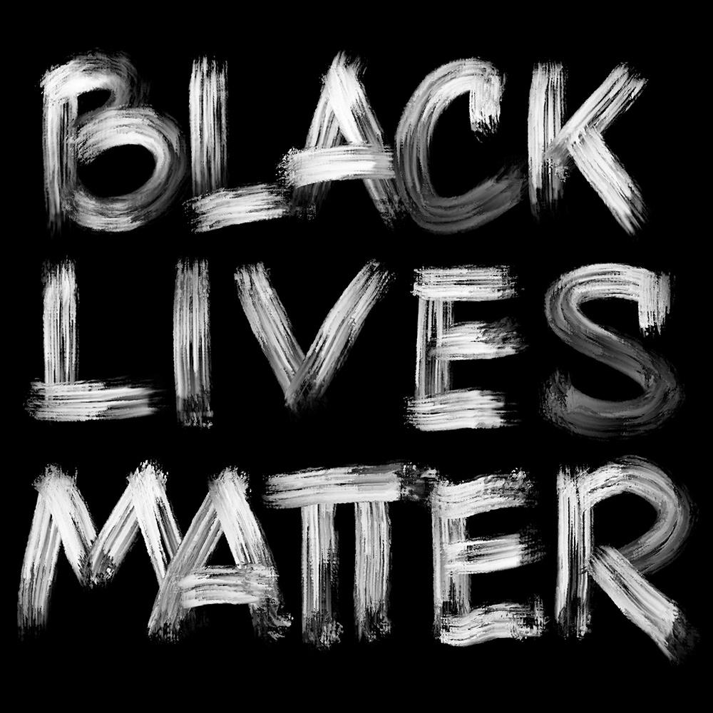 Lettering Black Lives Matter