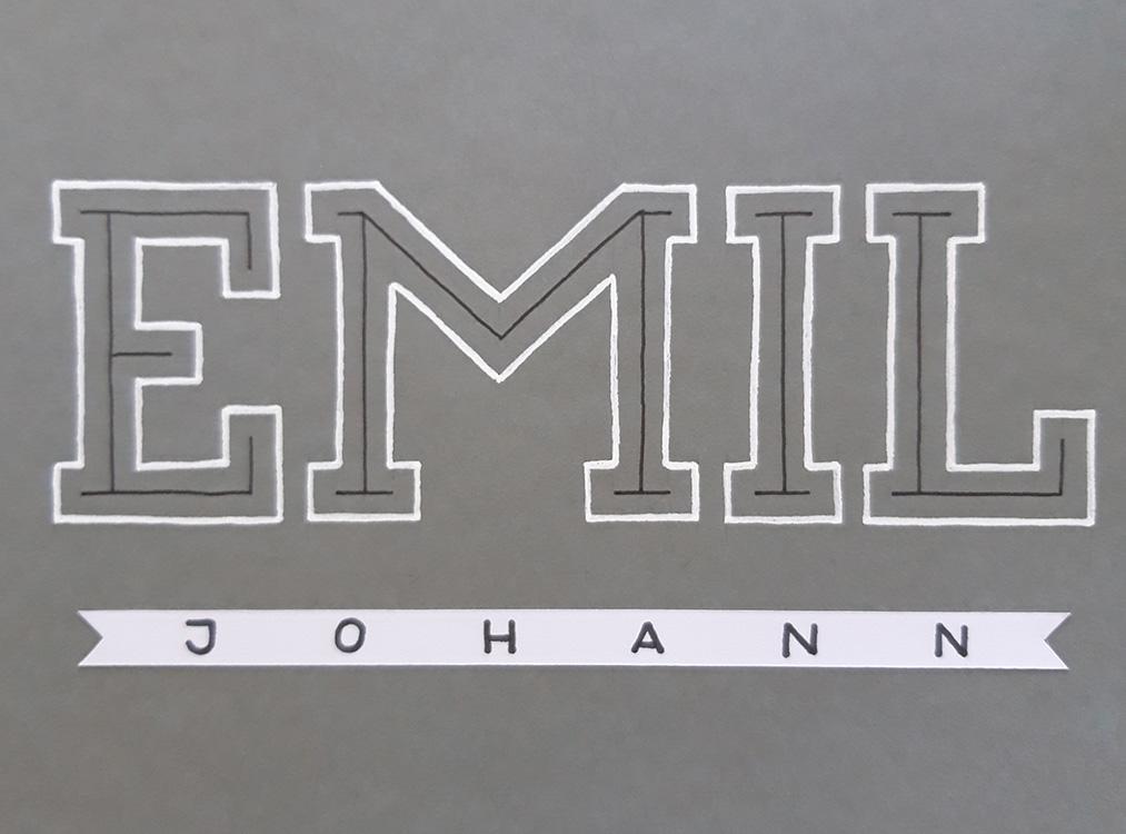 Lettering für Emil Johann