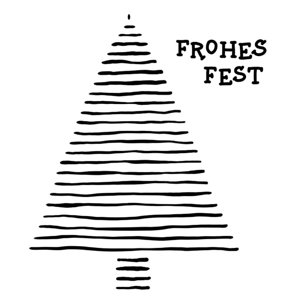Weihnachtsgruss 2020 in schwarz-weiß