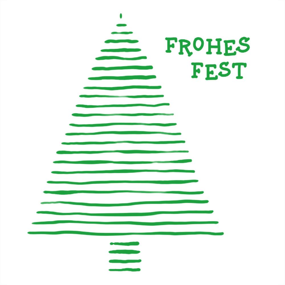 Weihnachtsgruss 2020 in weiß mit grüner Schrift