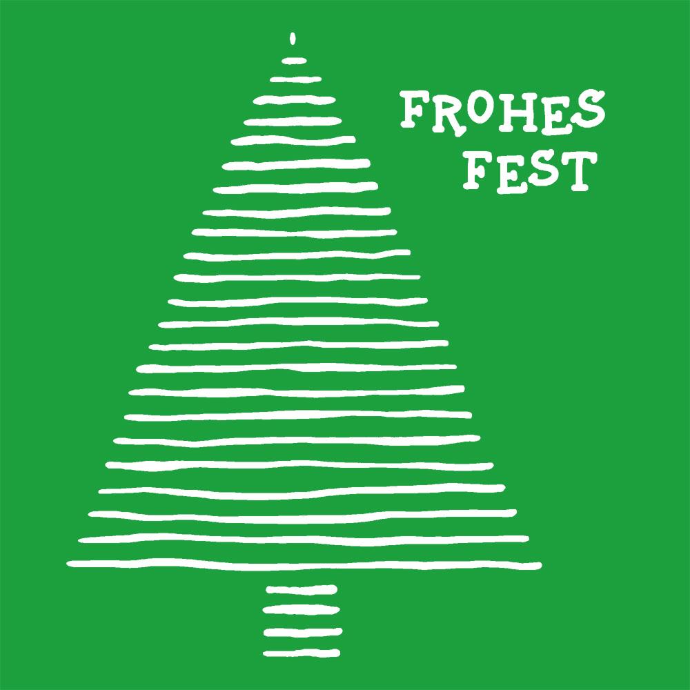 Weihnachtsgruss 2020 in grün mit weißer Schrift