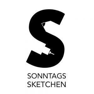 Logo für das Onlinetreffen Sonntagssketchen