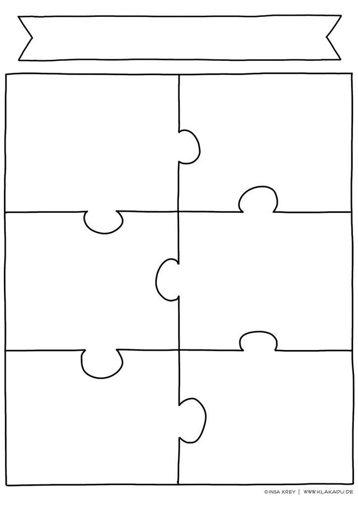 """Vorlage """"Puzzle"""" für Team- oder Projektarbeit"""