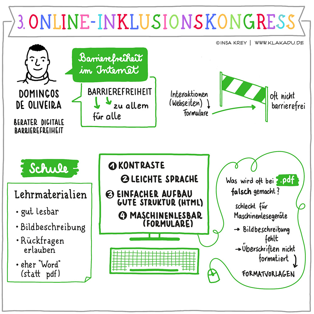 Zusammenfassung eines Gesprächs über Barrierefreiheit im Internet - 3. Online-Inklusionskongress